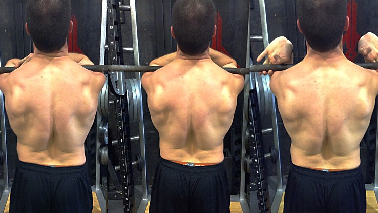 squats upper back