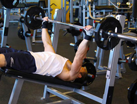 wide hands bench press