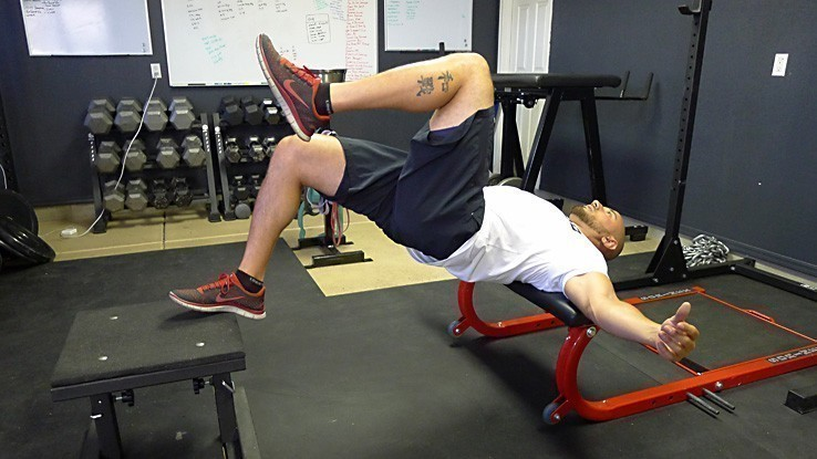 Foot and Shoulder Elevated Single-Leg Hip Thrust