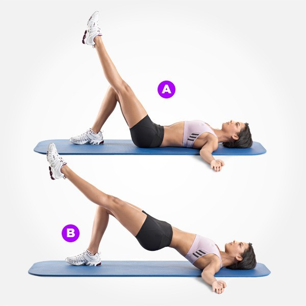 two legged glute bridge