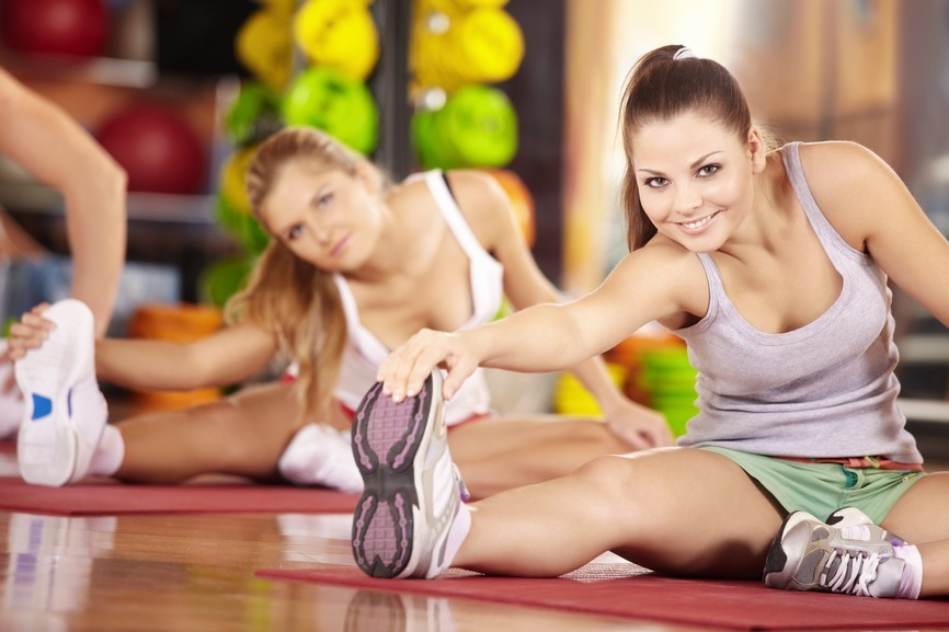 girls exercise