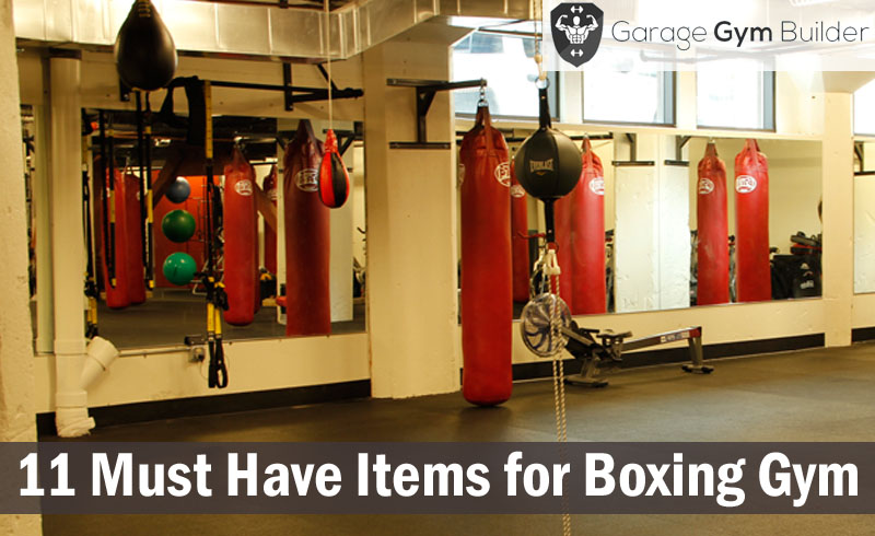 Must have items for making your home boxing gym