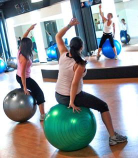 core muscle exercise ball