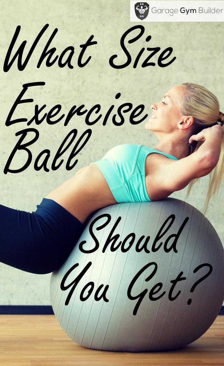 Most suitable size of Exercise Ball for you