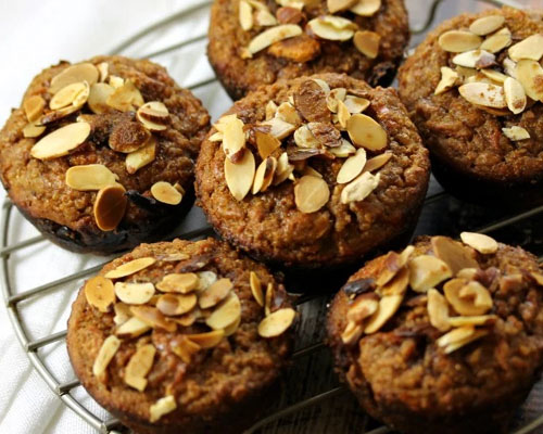 PB2 Carrot Raisin Muffins