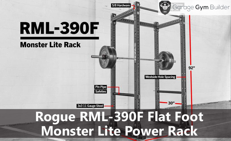 Rogue RML-390F Flat Foot Monster Lite Power Rack