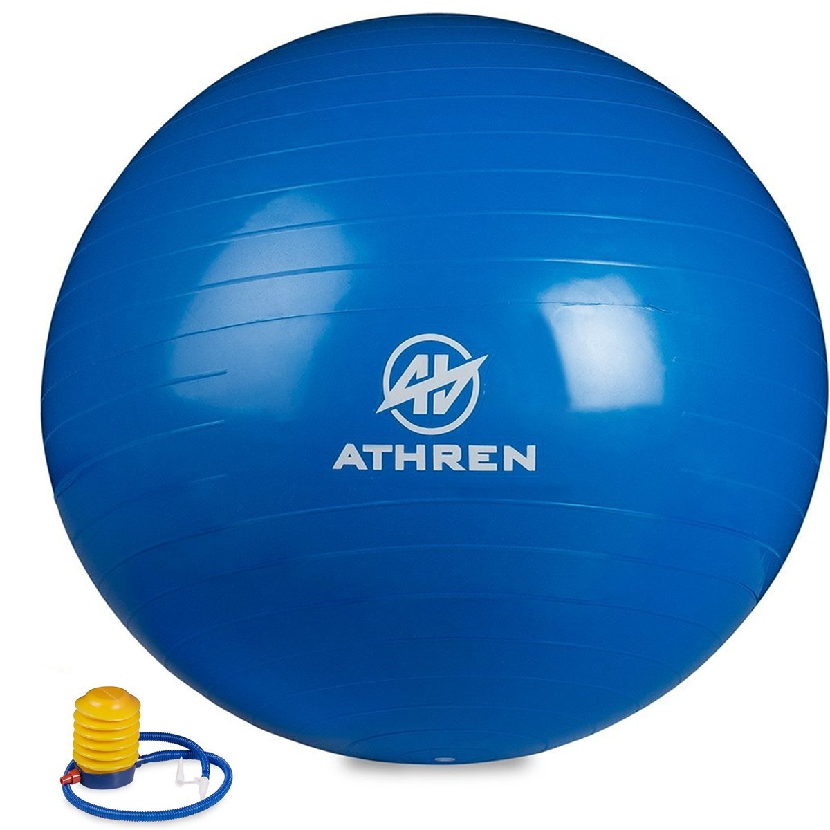 Athren Exercise Ball with Foot Pump