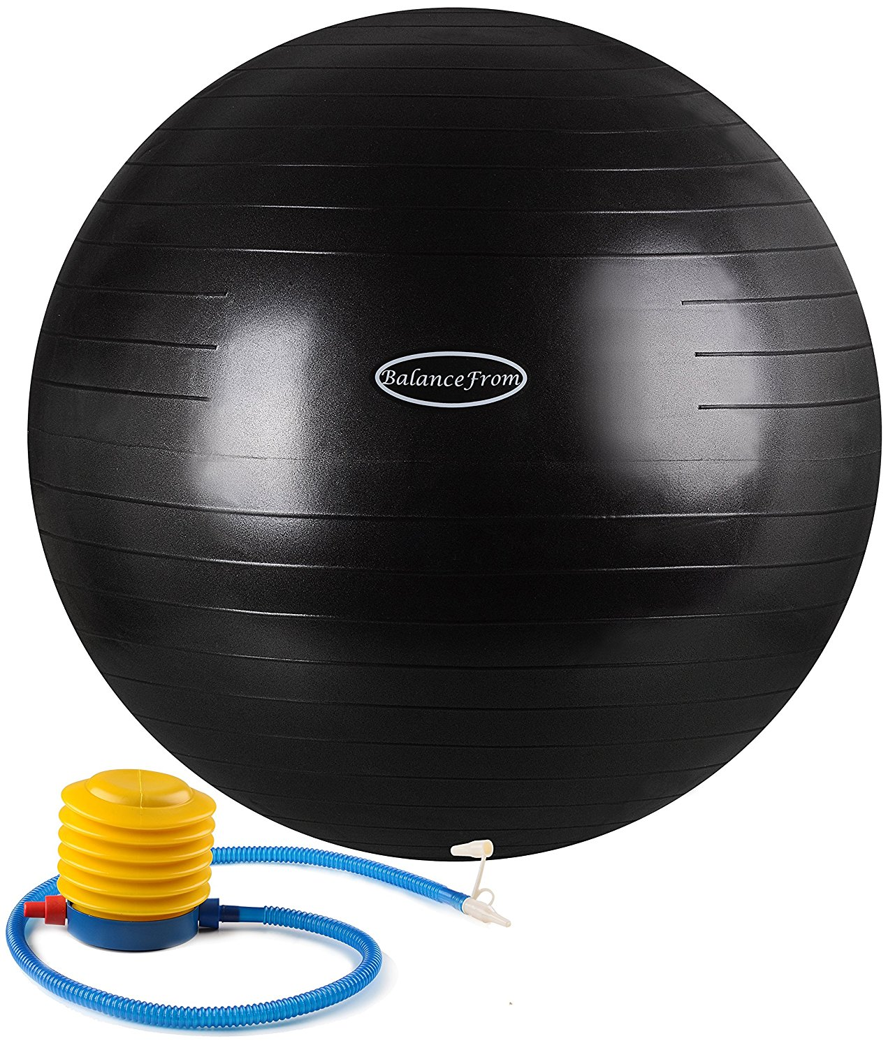 BalanceFrom Anti-Burst and Slip Resistant Fitness Ball with Pump