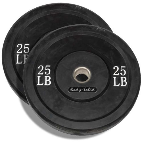 Body Solid 25 Pound Solid Rubber Bumper Plates
