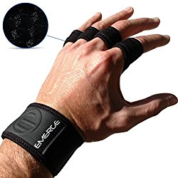Emerge OX2 Pull Up Crossfit Grips with Wrist Braces