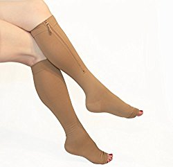 Firm Embrace Zippered Compression Stockings