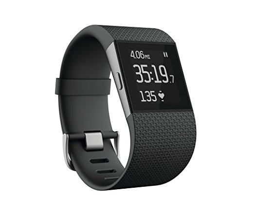 Fitbit Surge Fitness Superwatch, Black, Large (US Version)