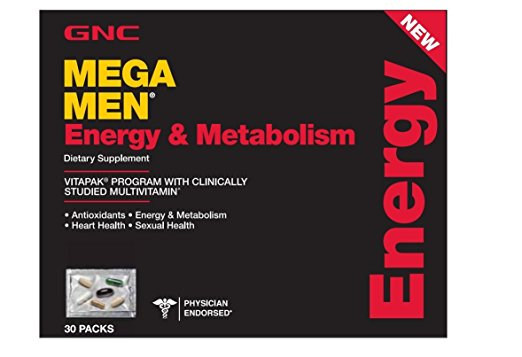GNC Mega Men Energy and Metabolism Capsules,