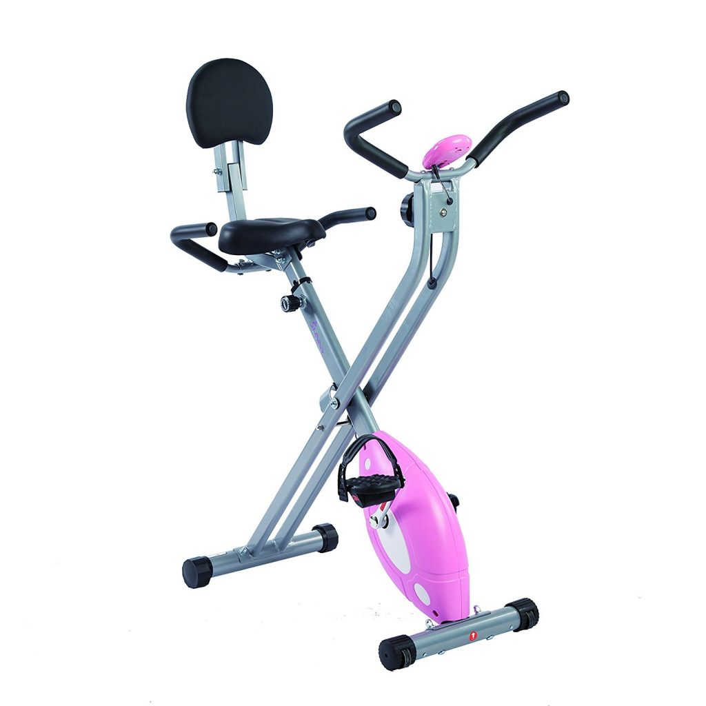 Sunny Health and Fitness folding sitting exercise bike