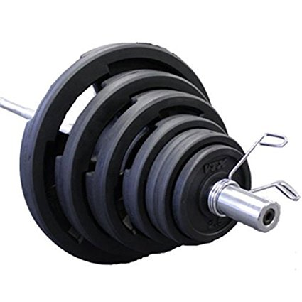 VTX 300 lb. Olympic Rubber Weight Set