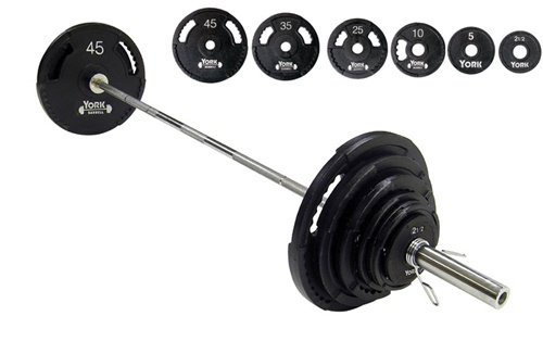 York 300 lb. Olympic Weight Set