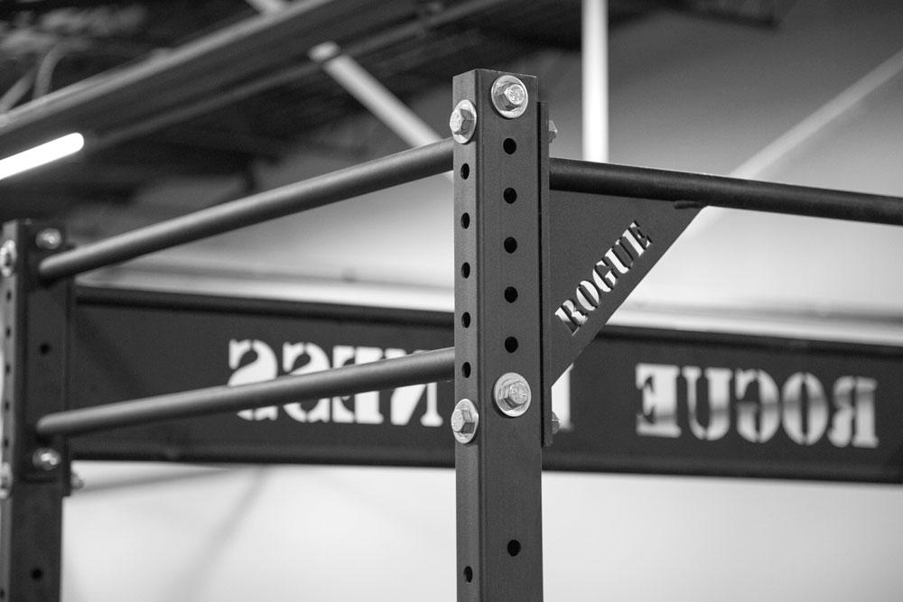 Rogue W-4 4 Inch Wall Mount Rig Up Close