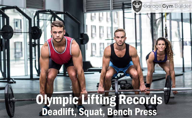 Olympic lifting records deadlift squat bench press