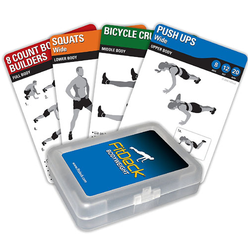 Fitdeck Illustrated Exercise Playing Cards