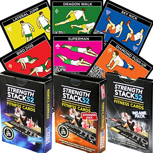 Strength Stack Workout Playing Cards