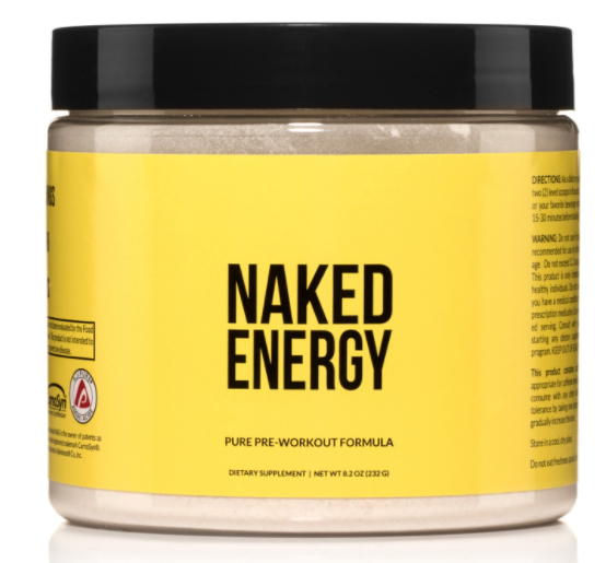 Naked Energy Natural Pre Workout Supplement
