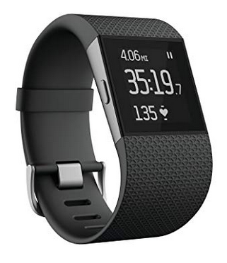 image of fitbit surge wrist heart rate monitor