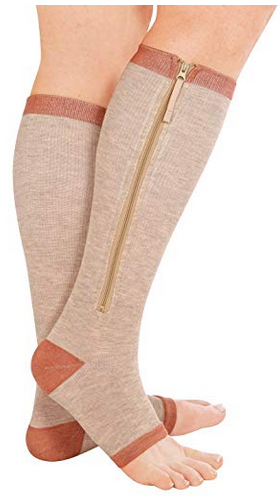 Dream Products Zippered Compression Stockings