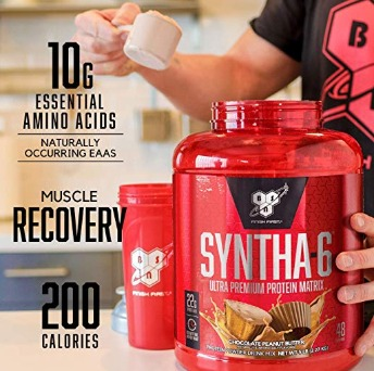 Syntha 6 protein powder contains dairy and egg protein.