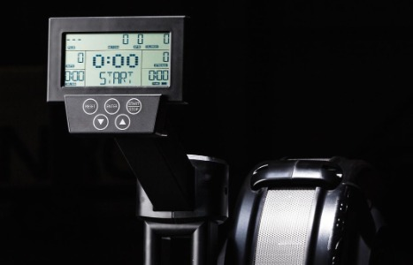 The LCD monitor on the Xebex Air Rower is easy to operate.