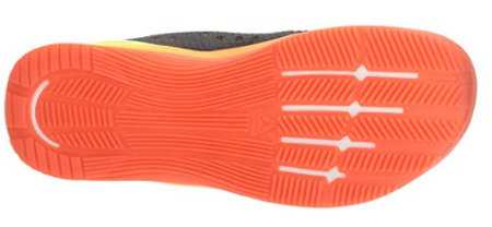 The Reebok Nano 7.0 has ridges on the outsole for shock absorption.