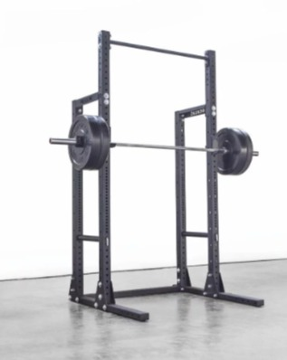 The Rogue HR-2 half rack comes with Rogue J-Cups.