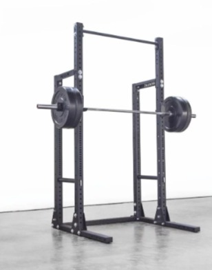 The Rogue HR-2 half rack configures for all Olympic lifts.