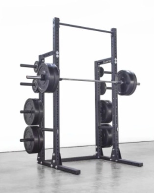 The Rogue HR-2 half rack is compatible with the Rogue dip frame.