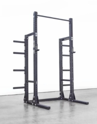 The Rogue HR-2 half rack offers additional options for plate storage.