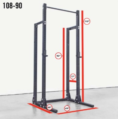 The Rogue HR-2 half rack offers customizable upright height.