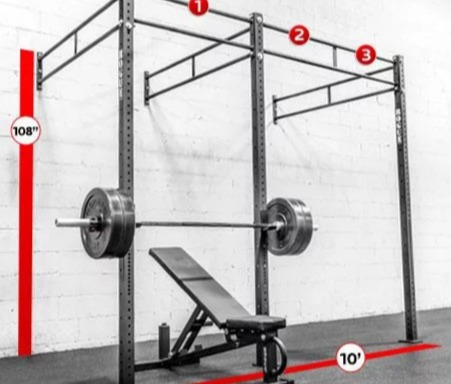 The Rogue Monster Lite Wall Mount pairs with any bench.