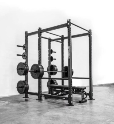 The Rogue RML-690 rack is a high end solid steel power rack.