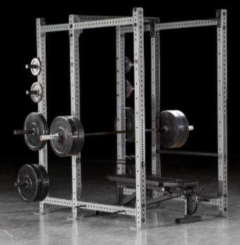 The Rogue RML-690C pairs with any weight bench.