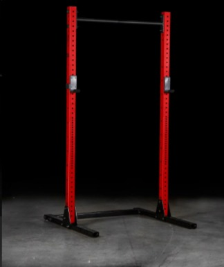 The Rogue SML 2-C squat stand has a stable base.