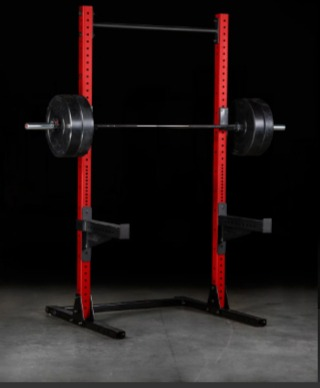 The Rogue SML-2C squat stand features Rogue J-Cups.