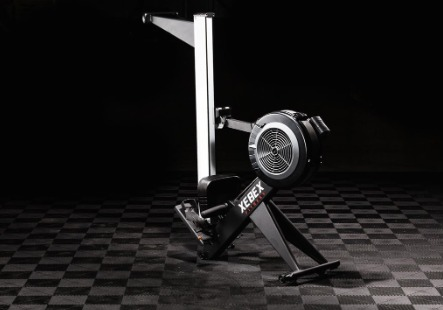 The Xebex Air Rower can be folded for easy storage.
