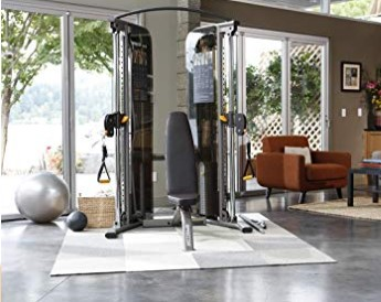 Precor Adjustable Bench In Gym Set Up
