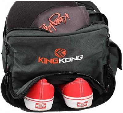 The Kong Junior bag has a waterproof shoe compartment.