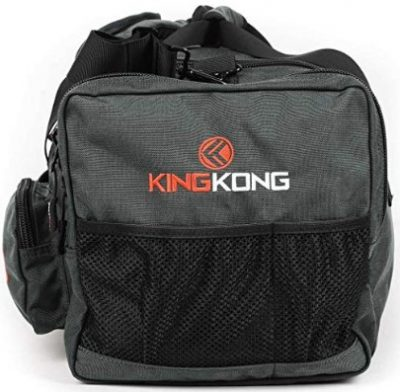 The Kong Junior bag features heavy duty zippers and buckles.