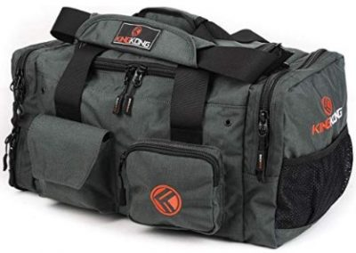 The Kong Junior bag is made of tear proof nylon.