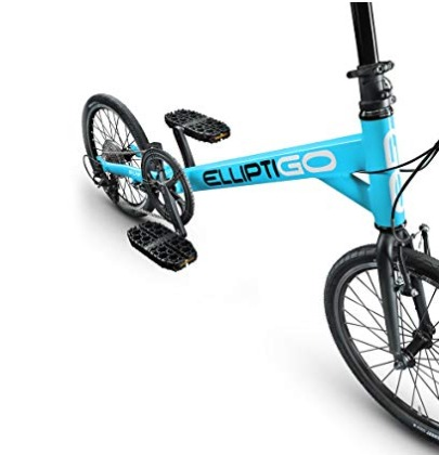 The ElliptiGO SUB outdoor elliptical bike offers adjustable seat height.