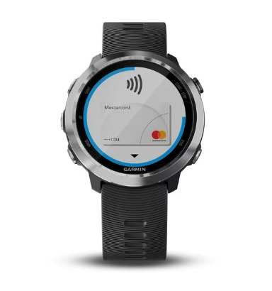 The Garmin Forerunner 645 lets you pay for purchases with Garmin Pay.