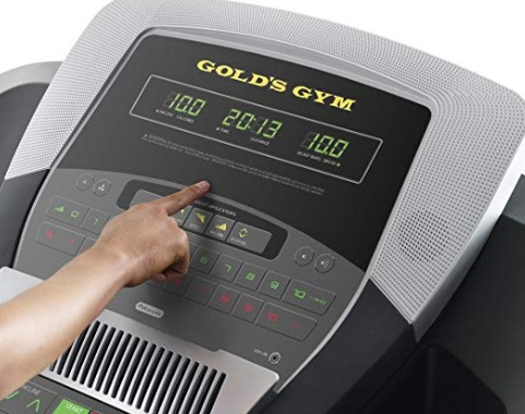 The Gold's Gym 720 Trainer has a console with basic metrics.