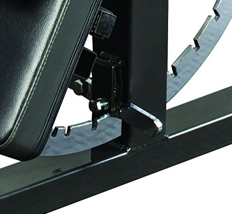 The Ironmaster Super Bench adjusts angles with no pins or knobs.