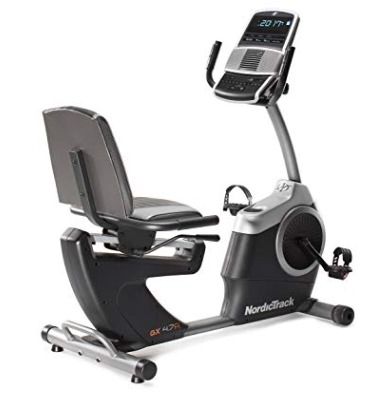 The NordicTrack GX 4.7 R recumbent bike is full featured.